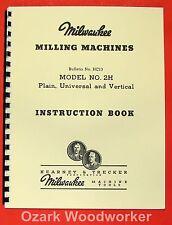 Kearney Amp Trecker Milwaukee 2h Milling Machines Operators Manual 0892