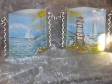 Tischlicht/Windlicht Leuchtturm/Boot -  Maritim