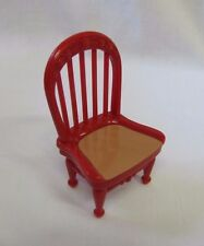 FISHER PRICE Loving Family Dollhouse DINING KITCHEN CHAIR for TABLE Red Tan