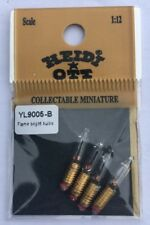 Heidi Ott Flame Bright Bulbs 3mm Screw, Dolls House Miniature, Lighting