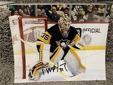 TRISTAN JARRY Pittsburgh Penguins SIGNED Autographed 8X10 Photo w/ COA