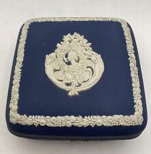 Vintage Wedgwood Blue Vantiy Trinket Box
