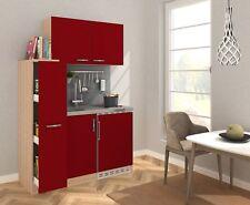 Küche Miniküche Küchenzeile Pantry Küchenblock 130 cm Eiche Sägerau rot respekta