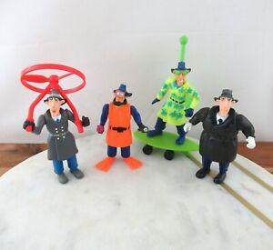Set of 4 Vintage Burger King Inspector Gadget Go-Go Gizmos Toys 1991 Lot