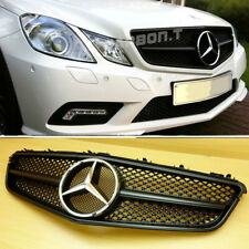 Matte Black For MERCEDES BENZ C207 2DR Coupe Convertible Front Grille Grill ABS