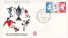 Enveloppe 1er jour FDC n°1027 - 1977 : Coupe de France de Football