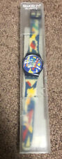 Swatch Standards 1993 - GN132 - Silver Patch Watch New In Box See Pictures