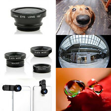 Pop 3 in1 Fish Eye + Wide Angle Micro Lens Camera Kit for iPhone 5G 4S Samsung