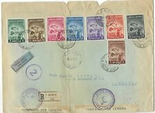 Albania 1943 Anti TB set of 8 registered censored cover to Italy