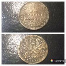 Moneta Rame Stato Pontificio 2 Carlini Romani Pio VI