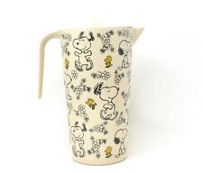 New ListingPeanuts Snoopy Woodstock Daisy Bamboo Fibre Pitcher Easter New