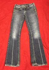 SILVER womens Aiko boot cut jeans sz 25x 29 Med Wash GUC