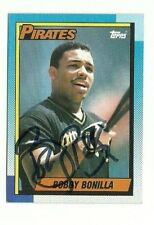 Bobby Bonilla 1990 Topps auto autographed signed card Pirates