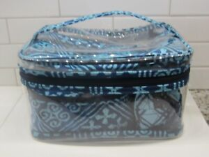 New with tag Vera Bradley Lighten Up 3-1-1 Cosmetic Travel Set in Cuban Tiles