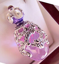 SALE ! LOVELY RUSSIAN EGG PENDANT HANDMADE OF STERLING SILVER 925 with AMETHYST