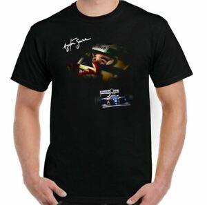 AYRTON SENNA T-SHIRT Mens F1 Driver Brazil Brazilian Car Motorsport Top Tee Car