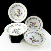 "NORITAKE JAPAN 4 PC #5173 OAKWOOD BLUE ACORNS 5 1/2"" FRUIT DESSERT BOWLS"