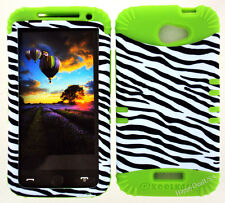 KoolKase Hybrid Silicone Cover Case for HTC One X S720e - White Zebra