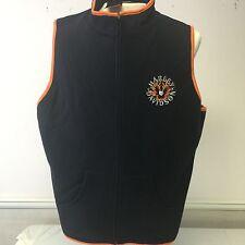 """Harley-Davidson """"ride free"""" flames black w/orange fleece zip vest 1W women's"""
