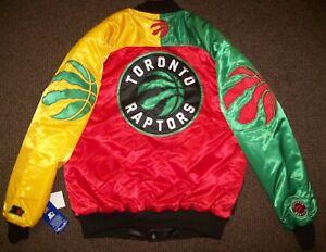 TORONTO RAPTORS Starter TY MOPKINS Snap Down Jacket RED YELLOW GREEN S M XL