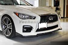Carbon Kit For 14-15 Infiniti Q50 Sedan Stillen Front Lip fit Q50S Sport Bumper