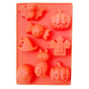 New Halloween Silicone Pumpkin Bat Chocolate Mould Candy Jelly Fondunt Mold
