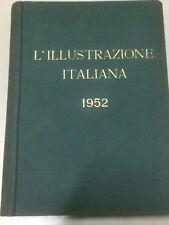 ILLUSTRAZIONE ITALIANA anno 1952 completa in volume rilegato rare vintage