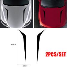 2pcs Black Racing Hood Stripes Decals Vinyl Stickers for Car SUV Truck Universal