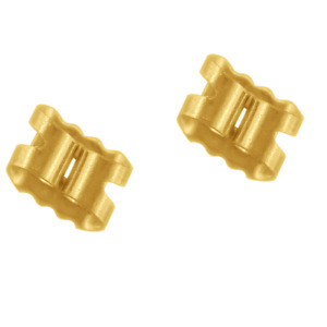 9ct Gold Earring Backs Butterfly Scrolls Push Fit .375  6mm (Large)  1 x Pair