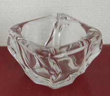 DAUM France, Cendrier carré en cristal translucide