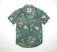 Mambo Loud Shirt Short Sleeve Button Up Graphic Print Size Small