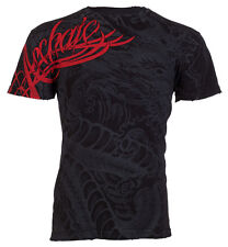 Archaic Affliction Mens S/S T-Shirt DRAGON RAGE Chinese BLACK Biker S-3XL $40