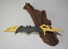 Brand New Sharp Double Edge Carbon Steel Folding Pocket Knife Dagger Bat Knife