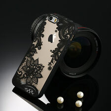 Sexy Retro Floral Phone Case For Apple iPhone X 8 7 6s Plus Lace Hard Back Cover
