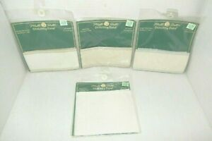 """4 Vintage Mill Hill Stitching Bands Linen 27 & 30 Ct 18"""" Long 2.7"""" & 4.7"""" Wide"""