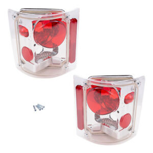 Altezza Tail Lights Set fits 1978-1987 Chevrolet Pickup Pair Red & Clear Lamps