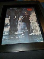 Bryan Adams On A Day Like Today Rare Original Radio Promo Poster Ad Framed!