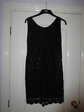 Women's Elegant Beaded Cocktail Dress by Desire Size M / L, Perfect for Parties!