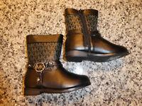 Michael Kors toddlers boots girls black Emma Jacquard 2 new