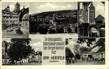 BAD HERSFELD Mehrbild-AK 1954 Bedarfspost Bahnpost Stempel Frankfurt am Main