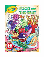 Lot of 2 Crayola Color & Sticker books ~Food For Thought and Jungle Animals