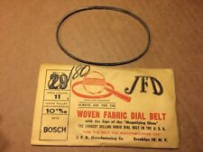 NOS Antique JFD Fabric Radio Dial Belt Number 180 GUARANTEED for Bosch