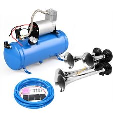 4-Trumpet Air Horn Train 150DB + 120PSI electric Air Compressor for Car Truck Bo