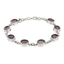 Sterling Silver Amethyst Fine Bracelets