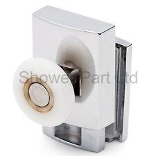 * 1 x SINGOLO BASSO ZINCO LEGA DOCCIA PORTA RULLI / corridori / RUOTE 23 mm RUOTA L070