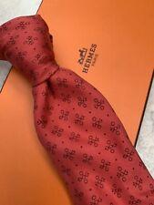 Hermes Silk Tie Red Design 5016 EA