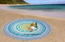 India Tresillo Roundie redonda Mandala Beach Hippie Tapiz banda Yoga Mat Bohemia
