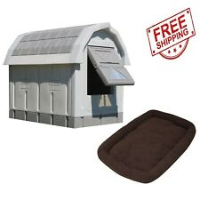 Asl Solutions Grey Insulated Dog Palace & Bed Combo *Free Shipping*