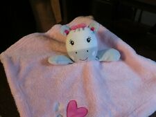 Baby Gear white & pink heart zebra security blankets (Rare)