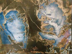 Valentin Samarine Russian art photography  Drouot abstraction RARE env 40/50cm